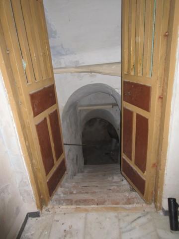 Stairs to bodega