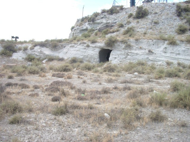 Small cave above
