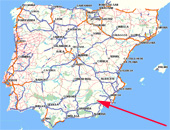 property for sale in spain map